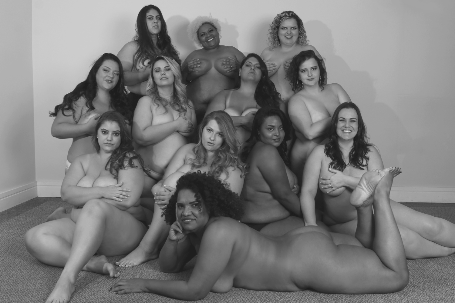 Formandas do Workshop para Modelos Plus size da Renata Poskus em abril de 2018.