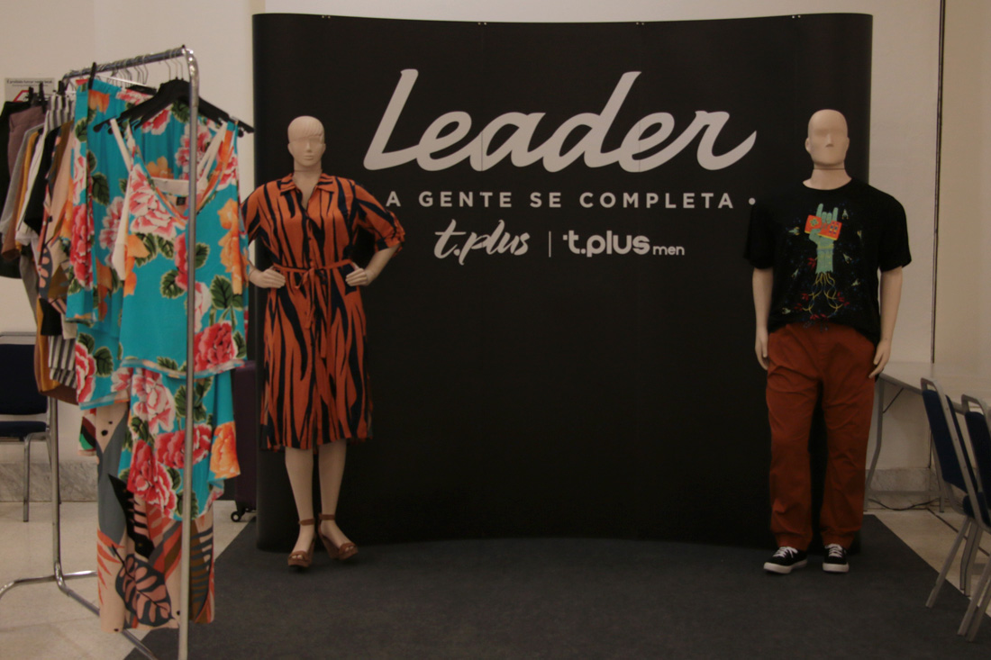 Estande da marca Leader, patrocinadora do evento.