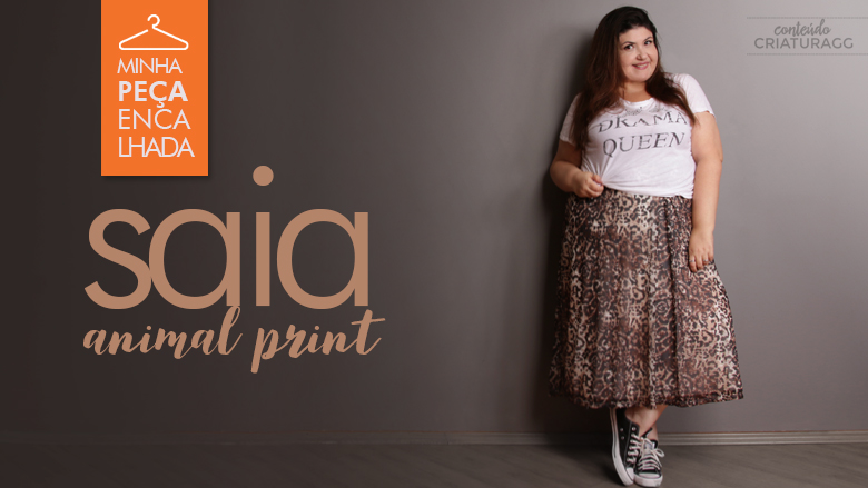 saia animal print plus size: como usar